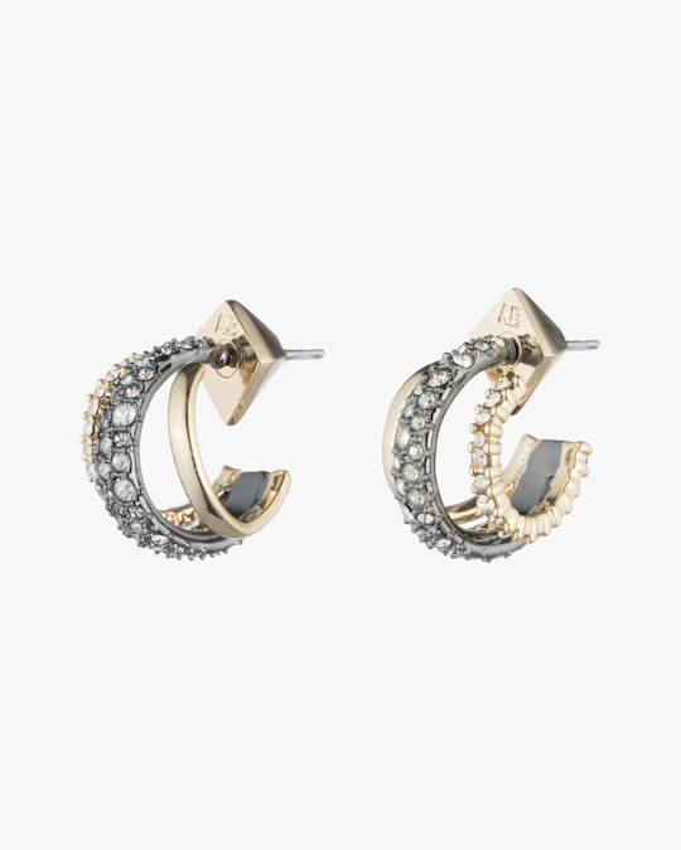 Alexis Bittar Crystal Orbiting Hoop Earrings 0