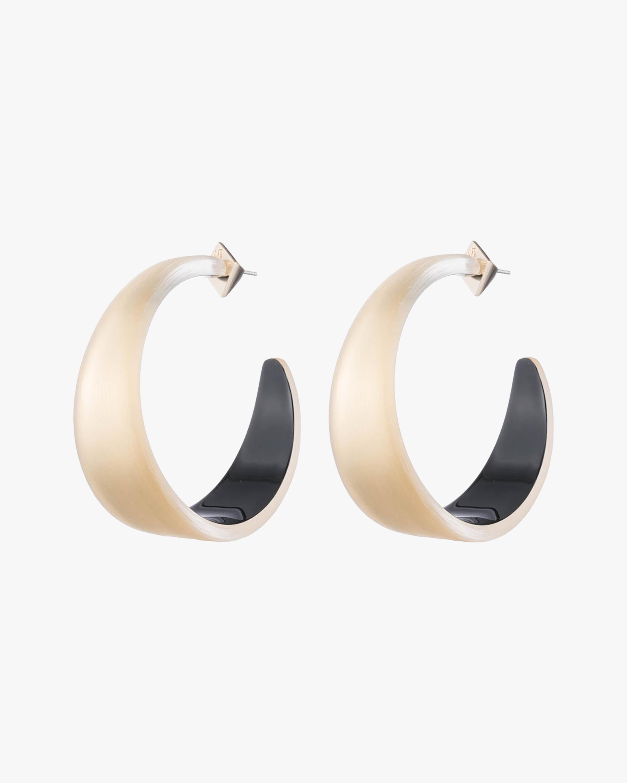 Alexis Bittar Lucite Tapered Hoop Earrings 0