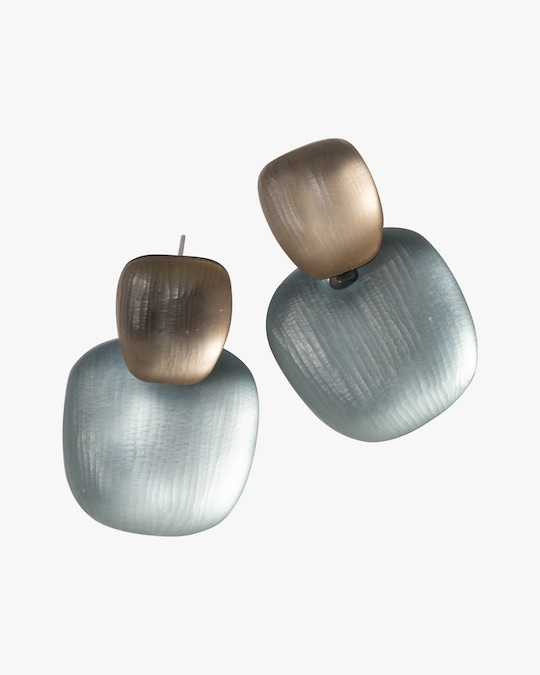 Alexis Bittar Lucite Layered Soft Square Earrings 0
