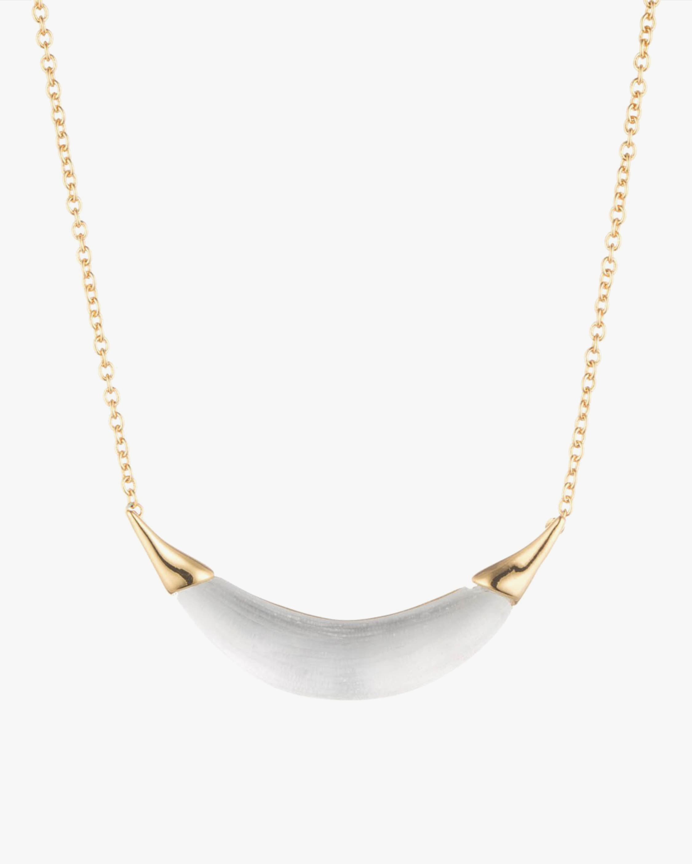 Alexis Bittar Gold-Capped Lucite Crescent Pendant Necklace 2