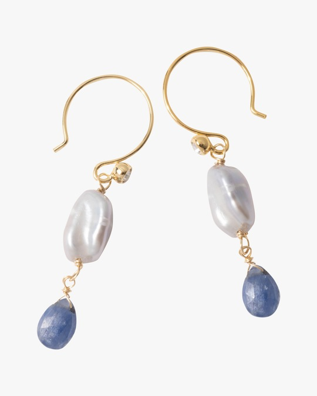 Alexis Bittar Asterales Pearl & Sapphire Drop Earrings 0