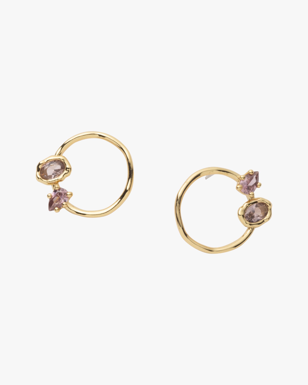 Alexis Bittar Asterales Circle Stud Earrings 2