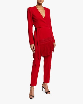 Badgley Mischka Fitted Crepe Pants 1