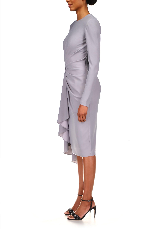 Badgley Mischka Draped Side-Sash Day Dress 2