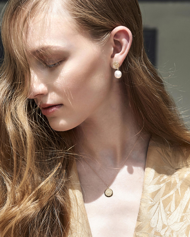 Penelope Jewelry Filigree Disc Earrings 1