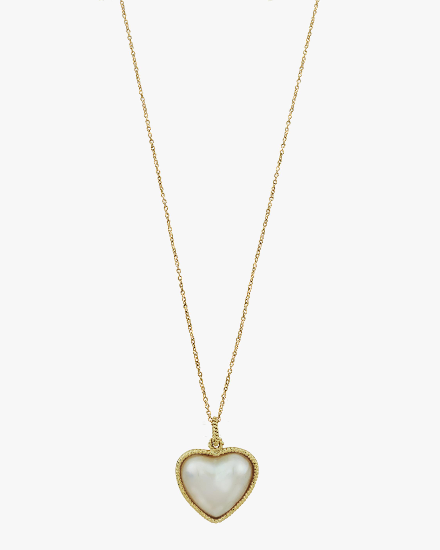 Penelope Jewelry Filigree Pearl Heart Pendant Necklace 2