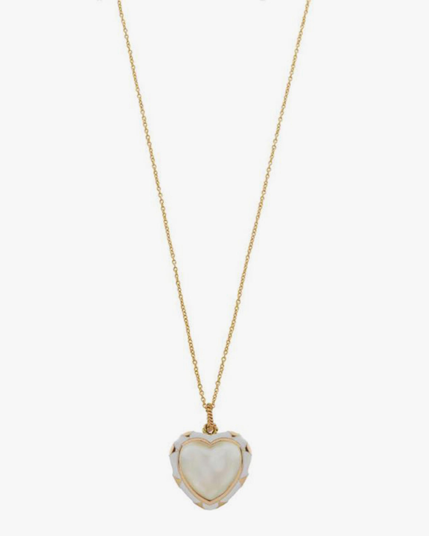 Penelope Jewelry Pearl Heart Pendant Necklace 0