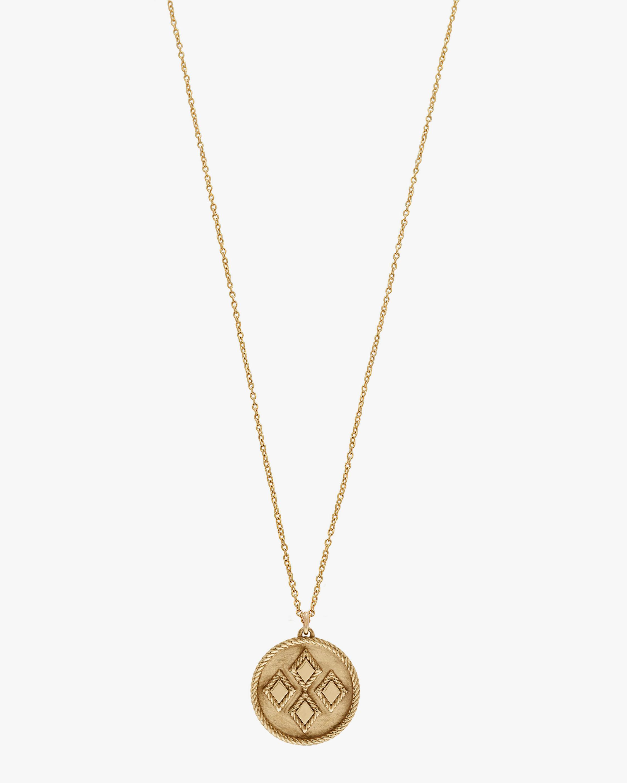 Penelope Jewelry Rhombus Disc Pendant Necklace 1
