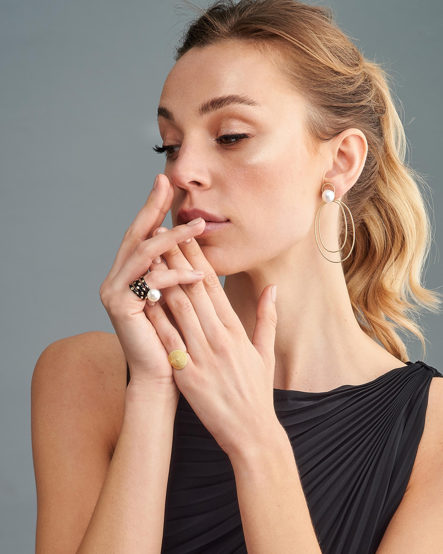 Penelope Jewelry Black Enamel Geometric Band 2