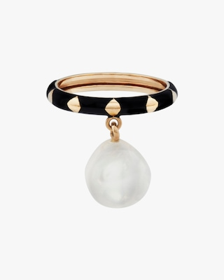 Penelope Jewelry Hanging Baroque Pearl Ring 1