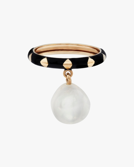 Penelope Jewelry Hanging Baroque Pearl Ring 0