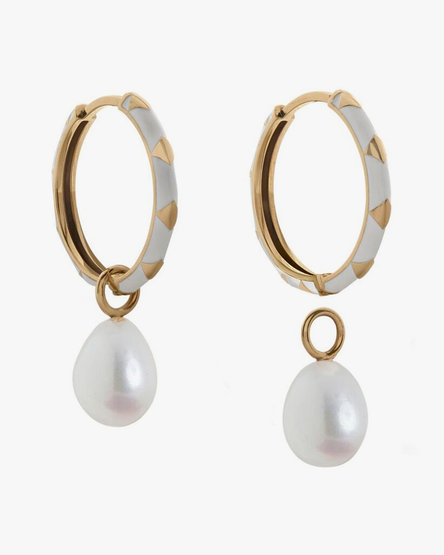 Penelope Jewelry Hanging Baroque Pearl Hoop Earrings 1