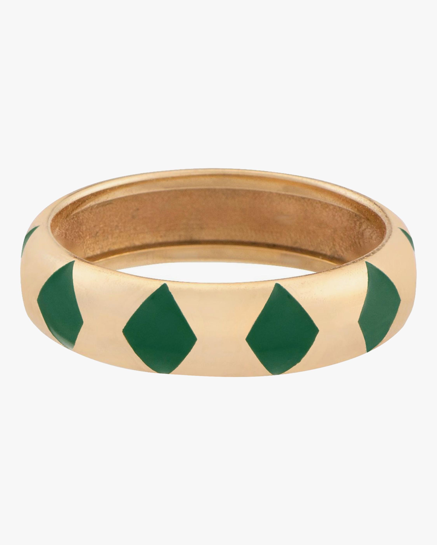 Penelope Jewelry Green Enamel Geometric Band 0