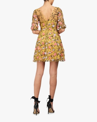Marchesa Notte Embriodered-Tulle Mini Dress 2