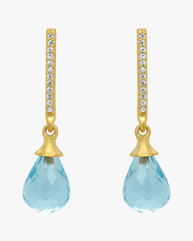 Dean Davidson Blue Topaz Teardrop Earrings 0
