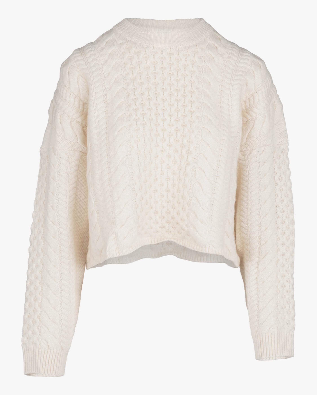 Naadam Cable Wool-Blend Crewneck Sweater 2