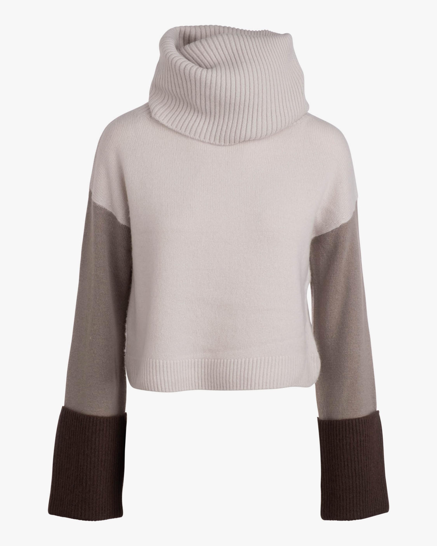 Naadam Color Block Wool-Blend Cowl Neck Sweater 2
