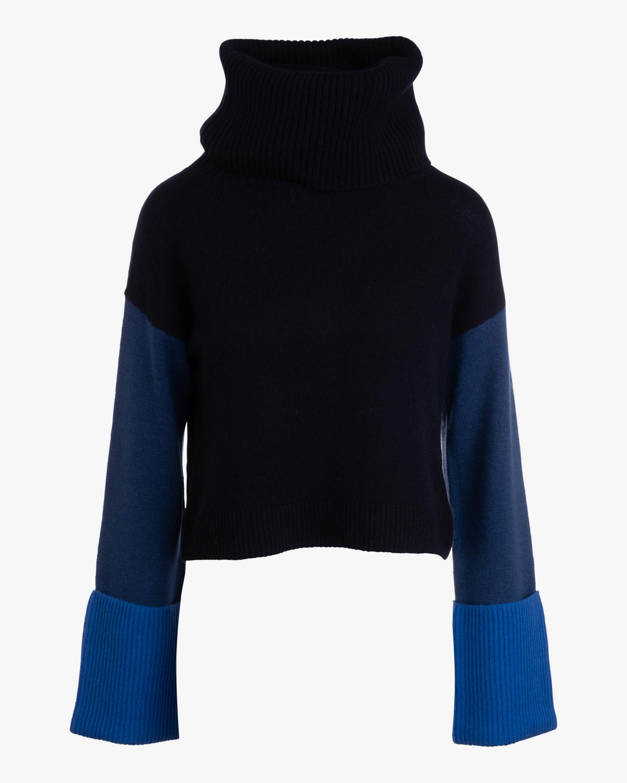 Naadam Color Block Wool-Blend Cowl Neck Sweater 1