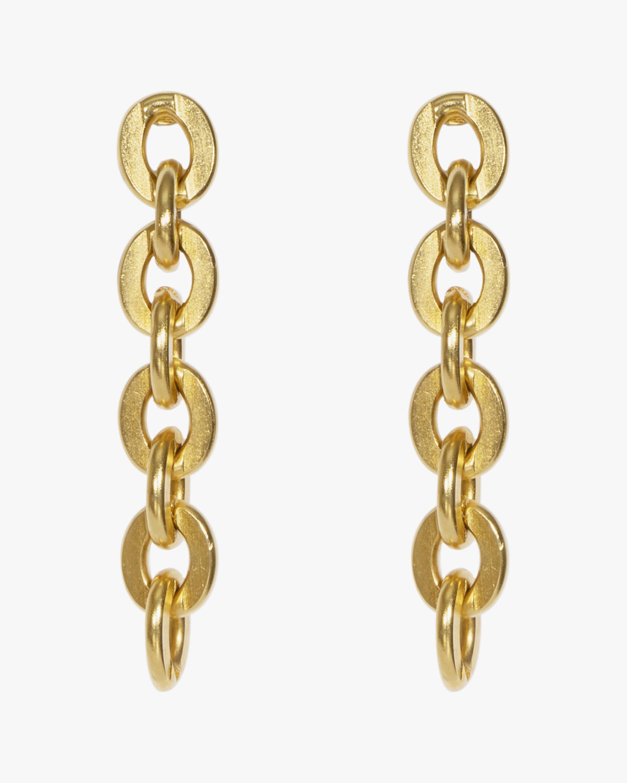 Ben-Amun Gold Link Chain Earrings 1