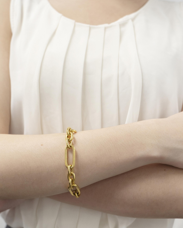 Ben-Amun Gold Alternating Link Bracelet 2