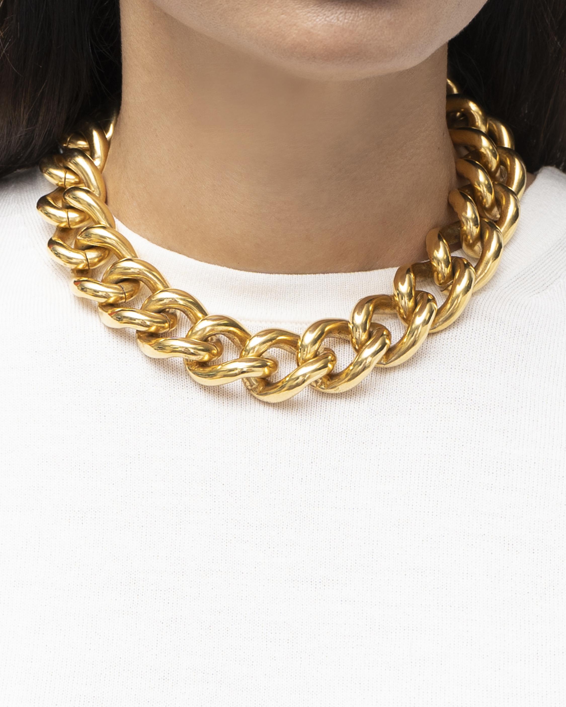 Ben-Amun Gold Wide Chain Necklace 1