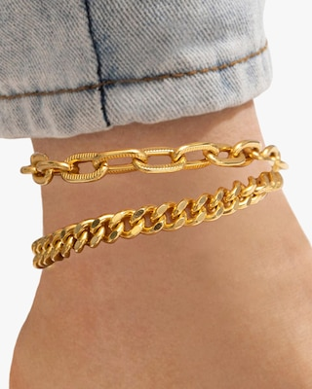 Ben-Amun Double-Row Chain Anklet 2