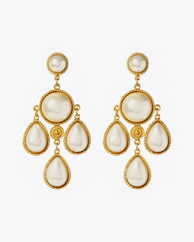 Ben-Amun Pearl Chandelier Earrings 2