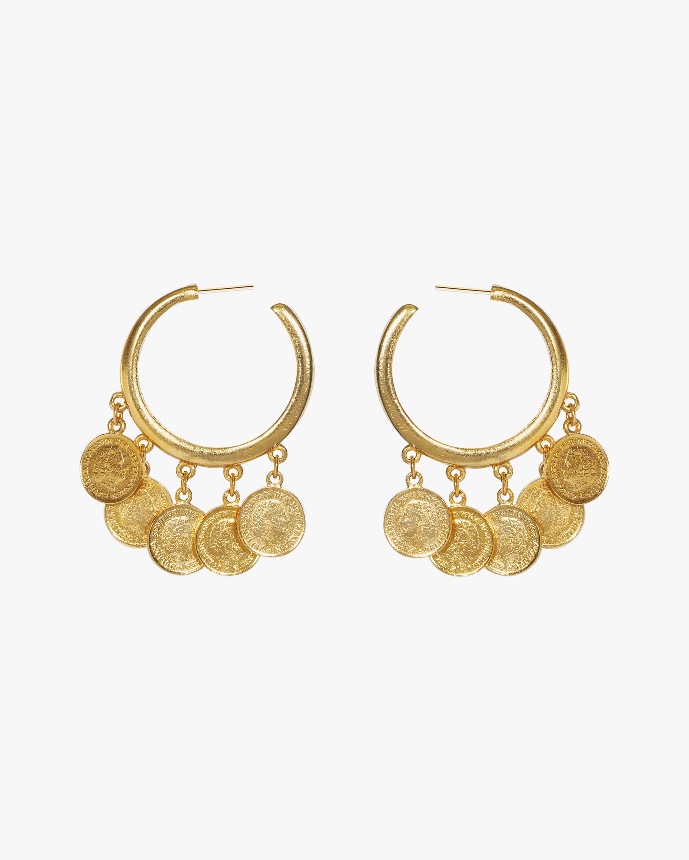 Ben-Amun Coin Hoop Earrings 0