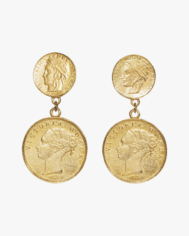 Ben-Amun Gold Coin Drop Earrings 1