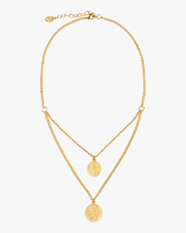 Ben-Amun Layered Coin Pendant Necklace 0