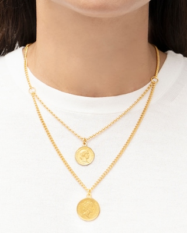 Ben-Amun Layered Coin Pendant Necklace 2