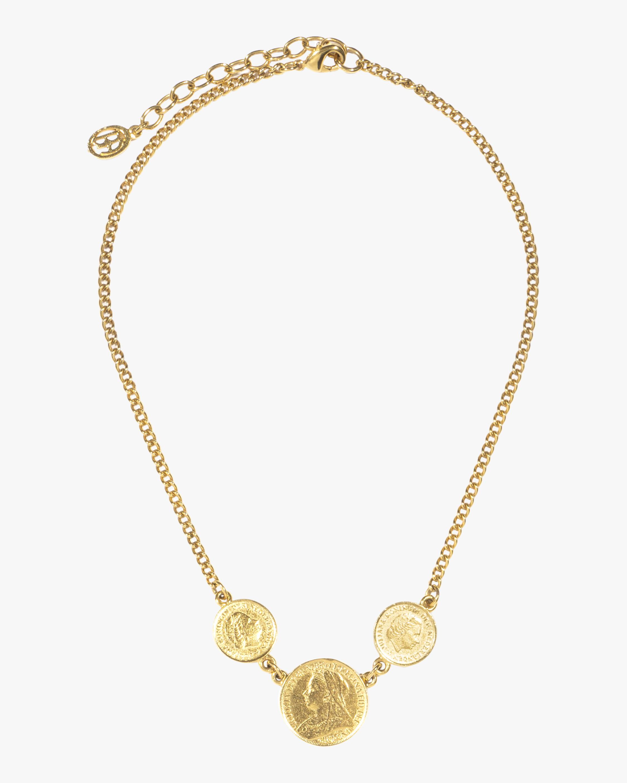Ben-Amun Trio Coin Station Necklace 0