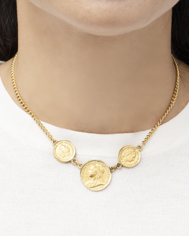 Ben-Amun Trio Coin Station Necklace 2