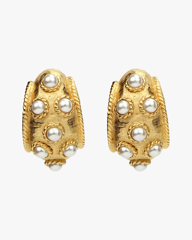 Ben-Amun Pearl Hoop Earrings 2