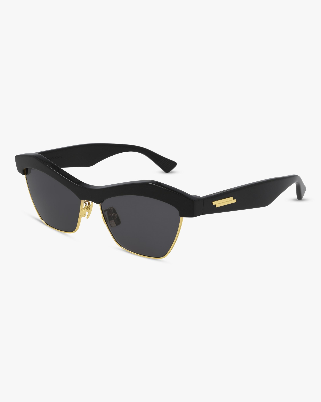Bottega Veneta Black Geometric Sunglasses 1