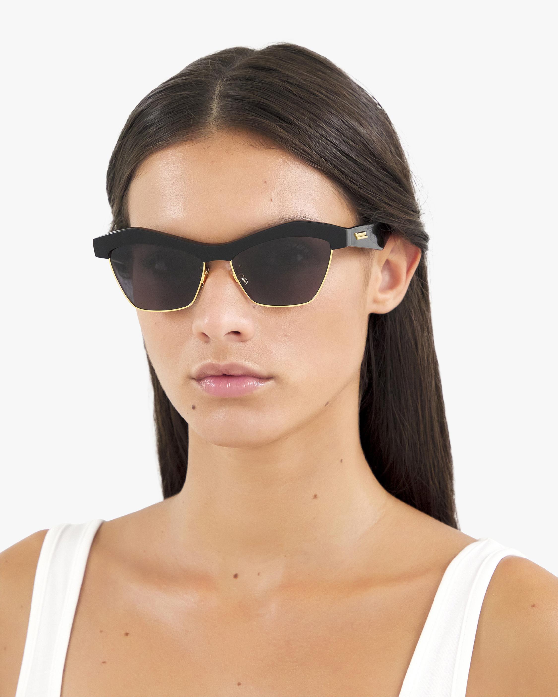 Bottega Veneta Black Geometric Sunglasses 2