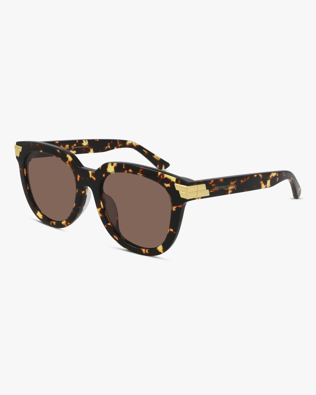Bottega Veneta Havana Oversized Sunglasses 0