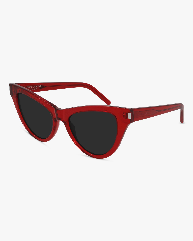 Saint Laurent Red Cat-Eye Sunglasses 2