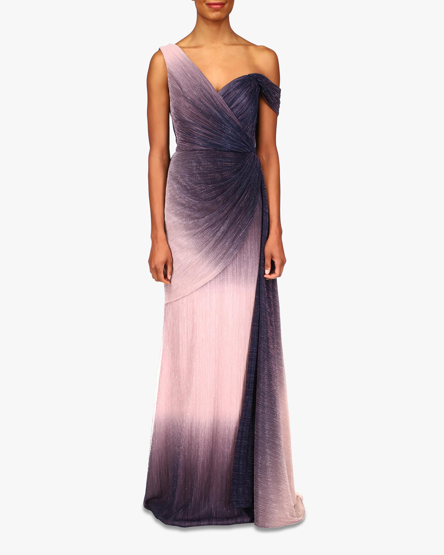 Badgley Mischka Asymmetrical-Shoulder Gown 1