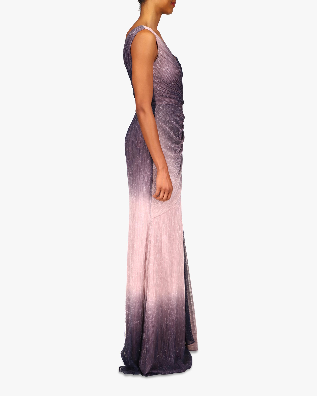 Badgley Mischka Asymmetrical-Shoulder Gown 2