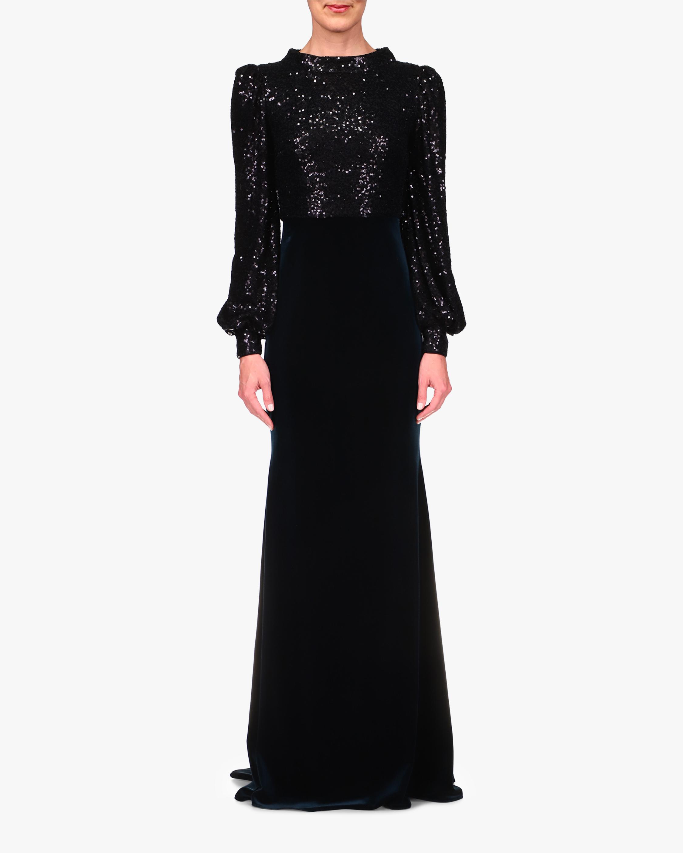 Badgley Mischka Sequin-Bodice Gown 1