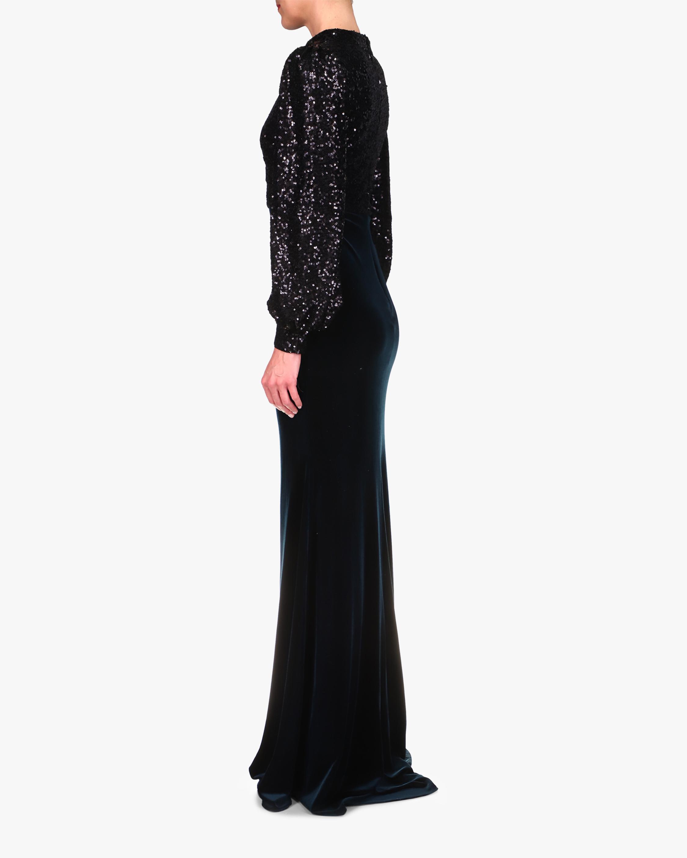 Badgley Mischka Sequin-Bodice Gown 2