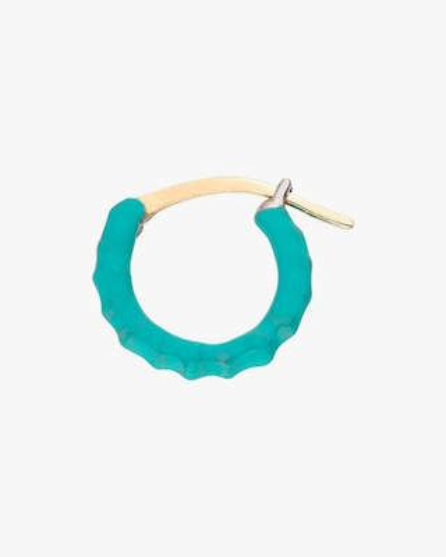 Gaya Single Turquoise Lacquered Hoop Earring 1