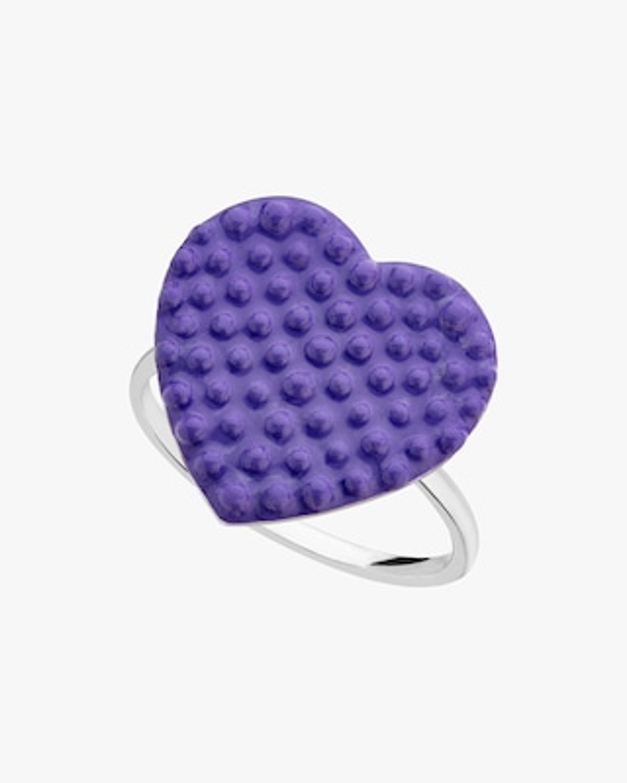 Gaya Purple Lacquered Heart Ring 1