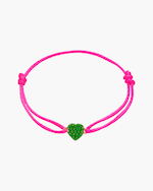 Gaya Green Lacquered Mini Heart Bracelet 0