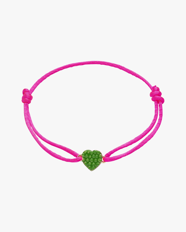 Gaya Green Lacquered Mini Heart Bracelet 1