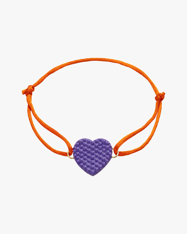 Purple Lacquered Heart Bracelet
