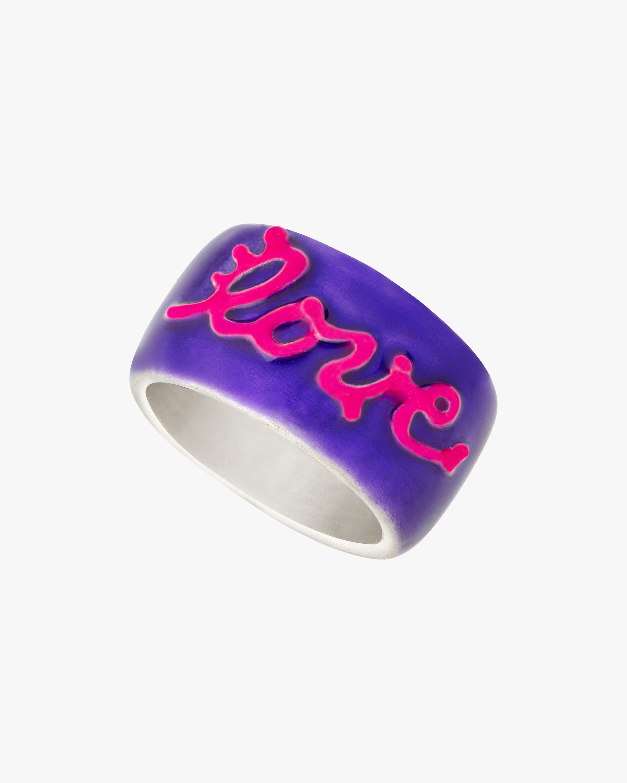 Gaya Purple & Pink Lacquered Wedding Band 1