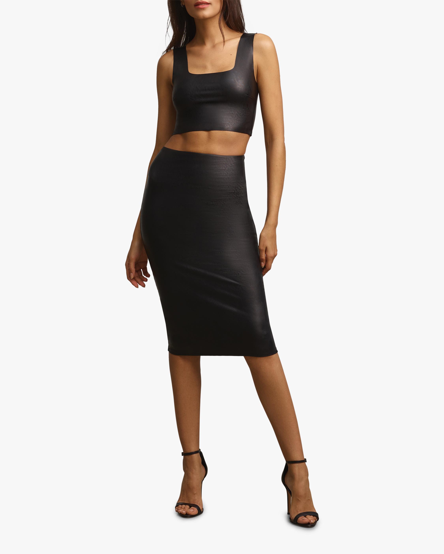 Commando Faux-Leather Midi Skirt 0