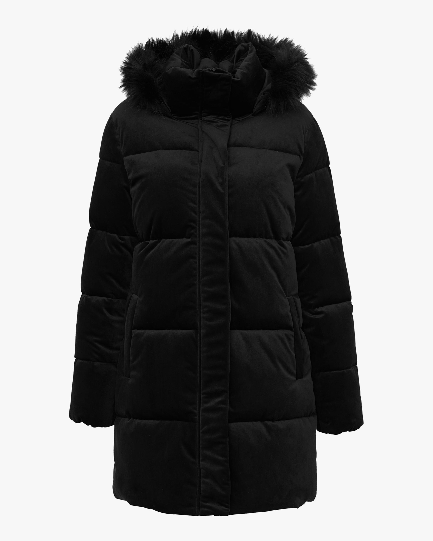 Unreal Fur Black Star Puffer Coat 0